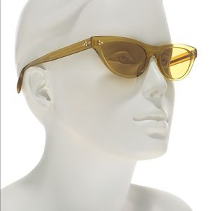 OLIVER PEOPLES Zasia Dark Honey Cat Eye Sunglasses